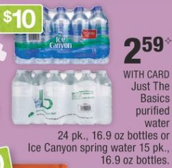 Just The Basics Water 24 Pk CVS Deal - Only $0.78 - 4/7-4/13