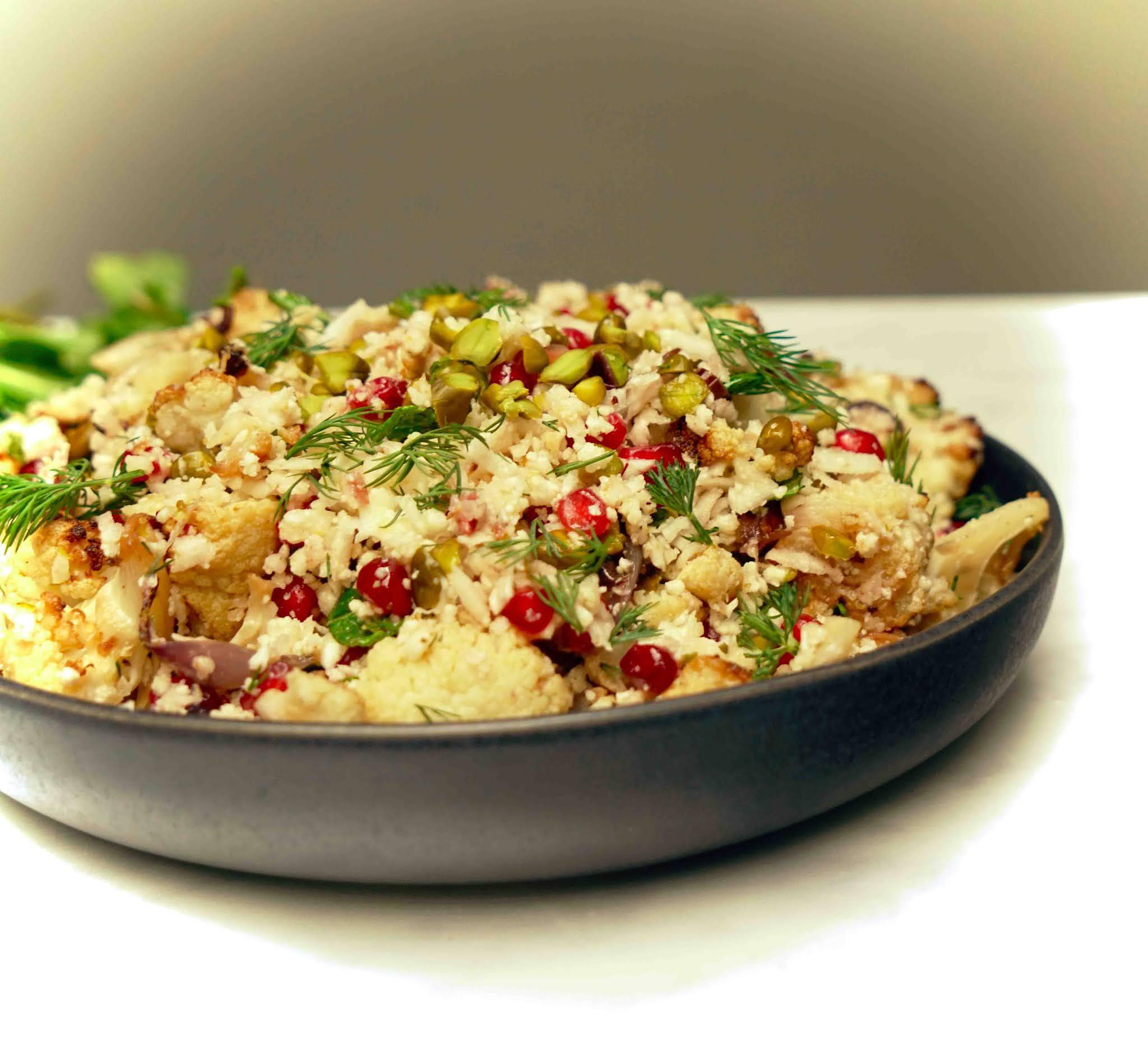 salade estivale, chou-fleur , légumes , otttolenghi