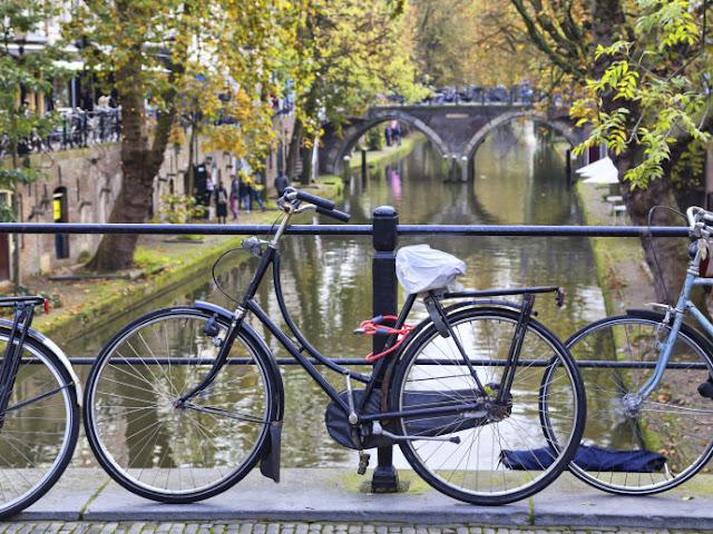 Andar de bicicleta em Utrechet, Holanda