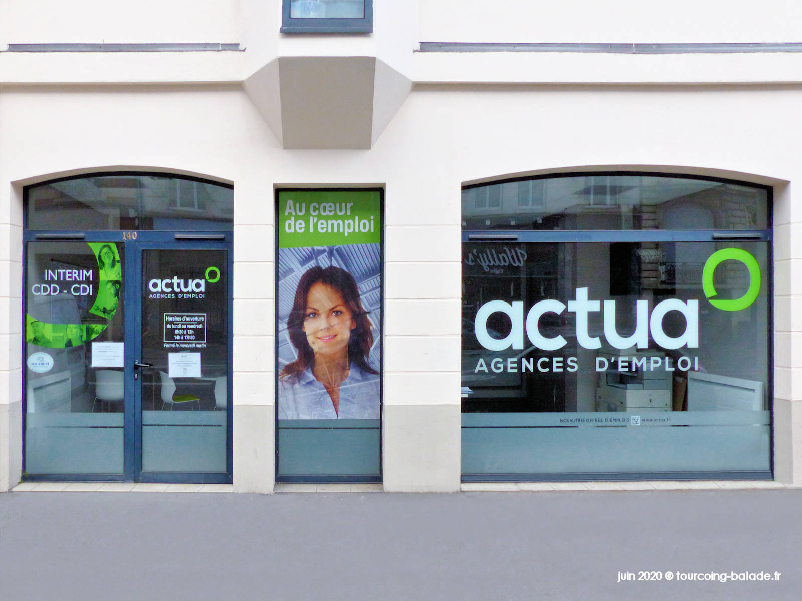 Agence Actua Emploi, Lille, 2020