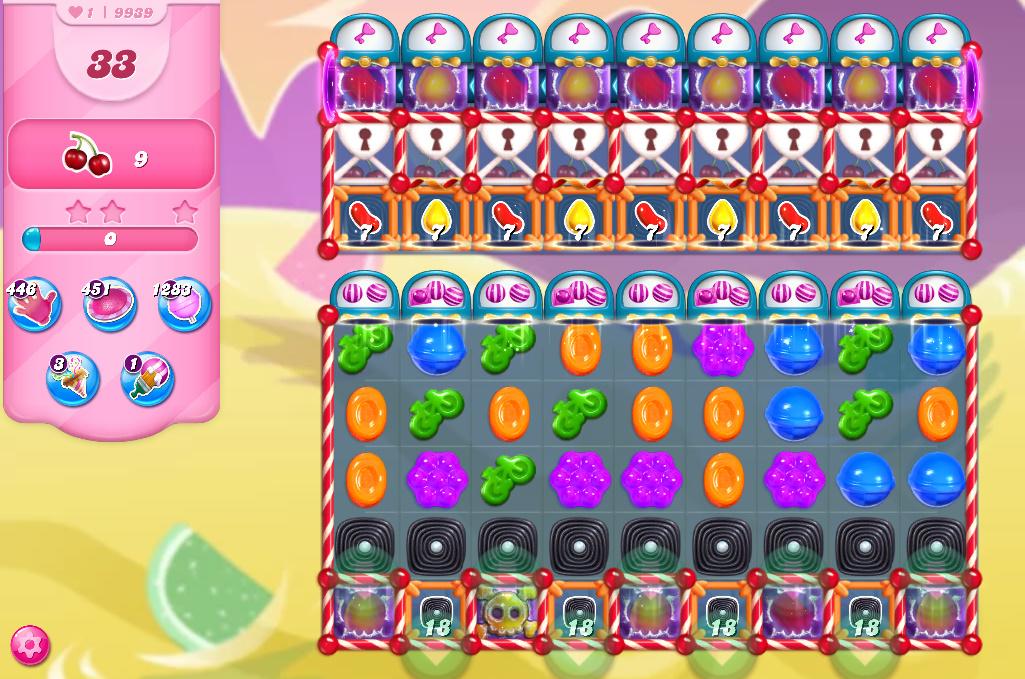 Candy Crush Saga level 9939