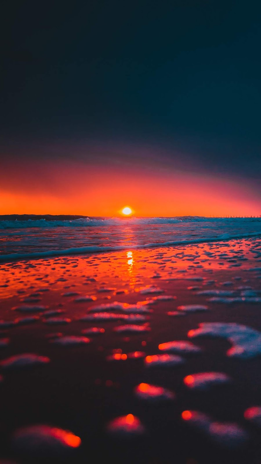 Beach sunset android wallpaper