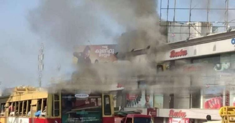 Fire at Bata Showroom in Karamana; The godown on the second floor was completely burnt,www.thekeralatimes.com