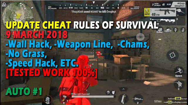 Download Cheat Rules of Survival Update 9 maret 2018 ! Leusin 4.0