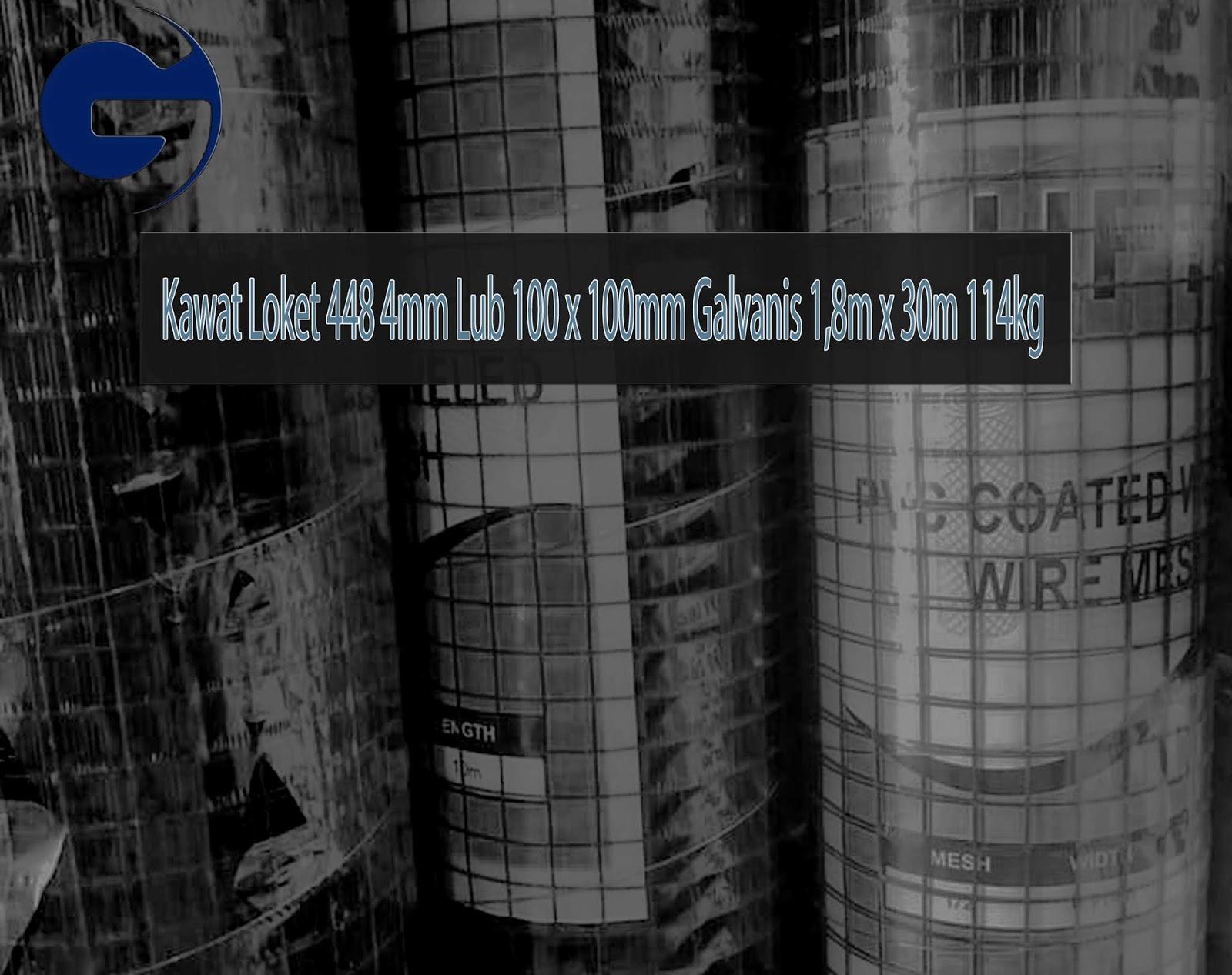 Jual Kawat Loket 448 4mm Lub 100 x 100mm Galvanis 1,8m x 30m 114kg