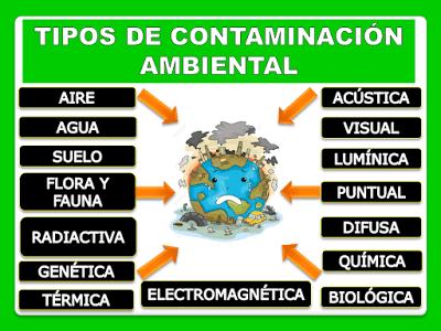 cuales son los tipos de contaminación ambiental