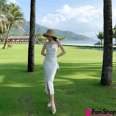 Cua hang ban vay maxi di bien tai Hoang Mai