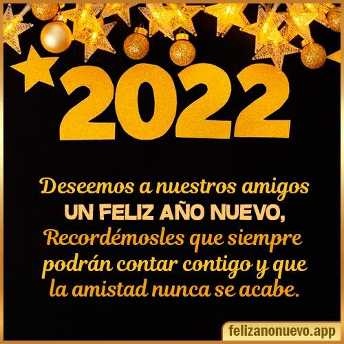 Desear feliz año nuevo para mis Amigos