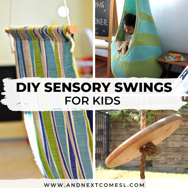 Sensory Swings: DIY tutorials for making your own DIY indoor sensory swing for kids