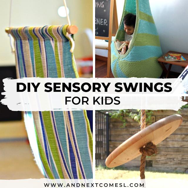 Sensory Swings: DIY tutorials for making your own indoor sensory swings for kids