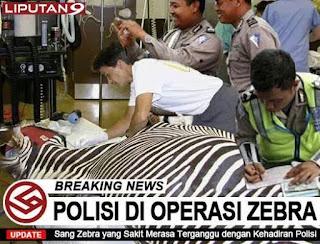 Koleksi Gambar Meme Foto Lucu Unik Operasi Zebra dan Razia Polisi