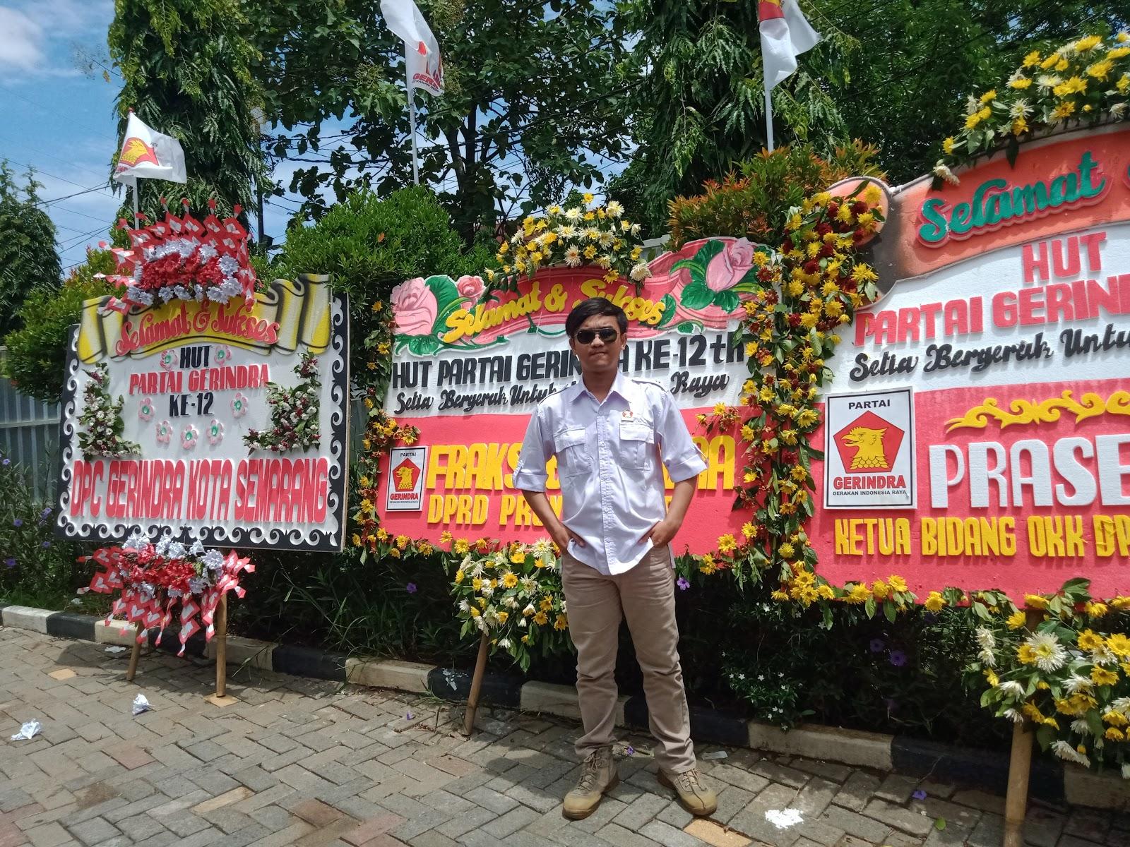 Syukuran Hari Ulang Tahun (HUT) ke-12 Partai Gerindra di kantor DPD Partai Gerakan Indonesia Raya (Gerindra) Provinsi Jawa Tengah