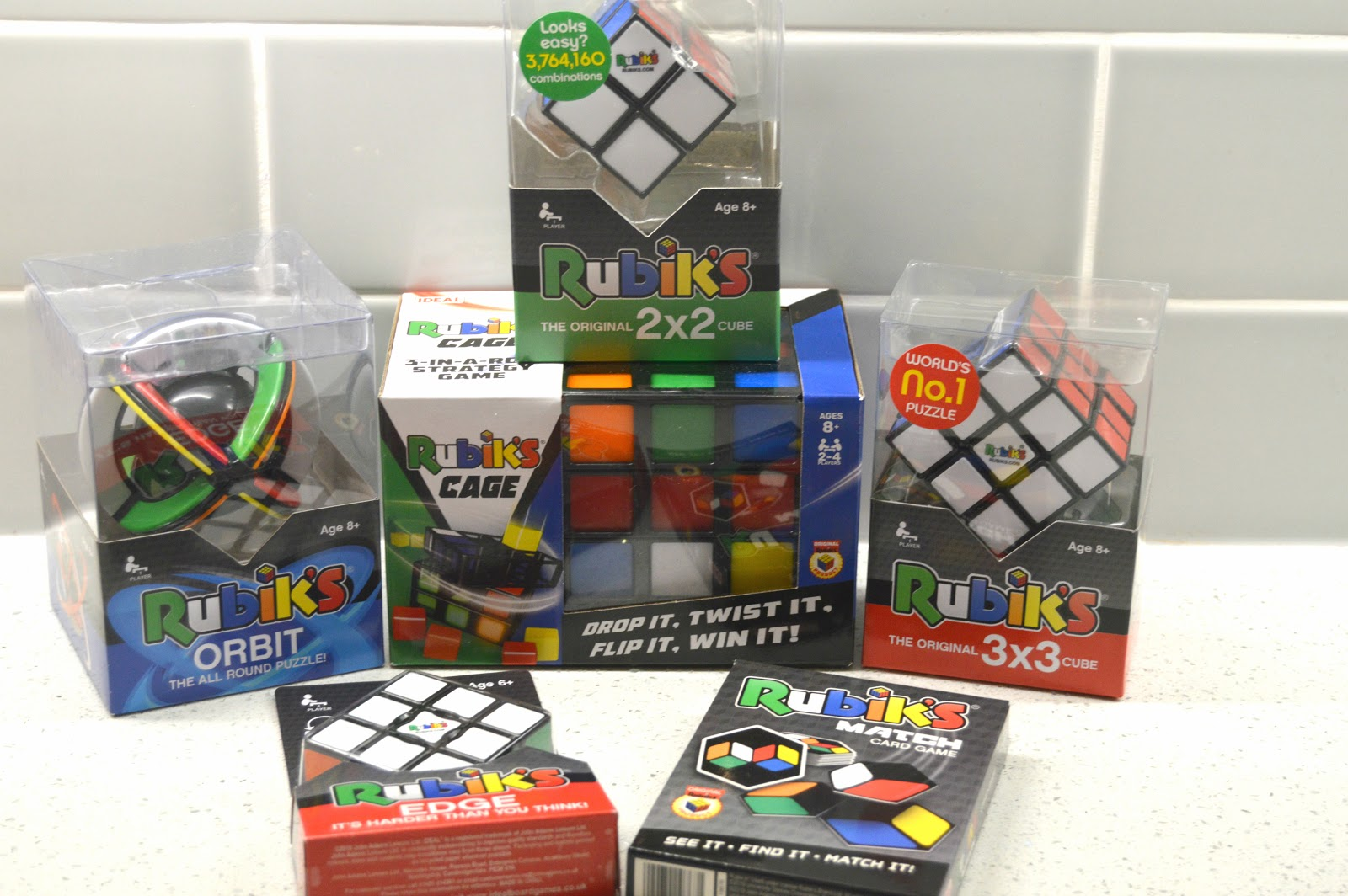selection of  rubiks cubes