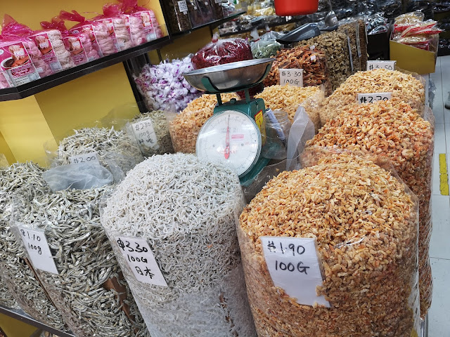 Dried seafood store