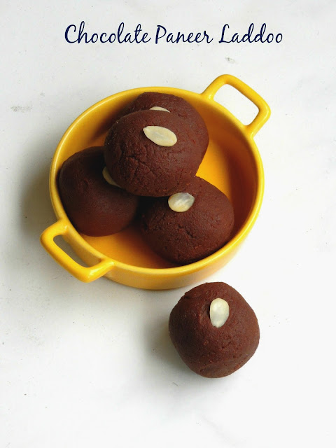 Chocolate Paneer Laddoo, Chocolate Paneer Laddu