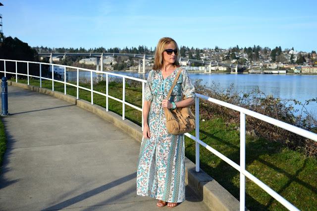 Fashion, fashionblogger, bohemian, spring, fashionover50, seattleblogger