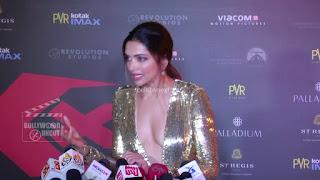 Deepika Padukone Promoting   Return of Xander Cage in India in Golde Gown 77 .xyz.jpg
