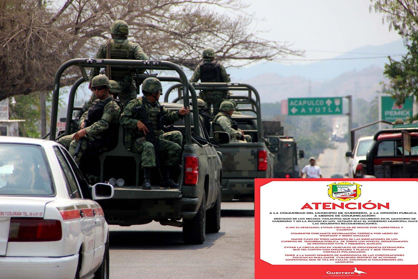 El narco se apodera de Guerrero; Alcalde capitula ante el crimen organizado y declara toque de queda