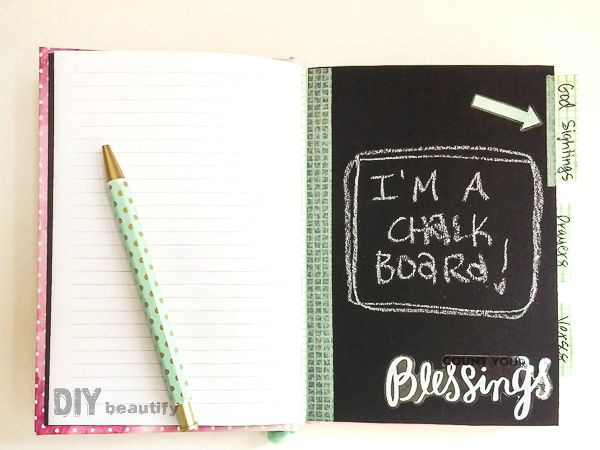 A decorated notebook makes a great gift for a teen girl! Use trims, stickers and chalkboard paper! See more at DIY beautify