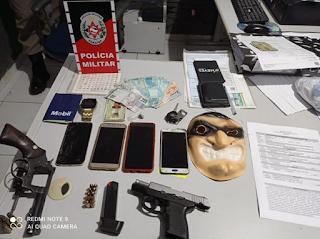 Homens são detidos com armas entre Nova Palmeira e Picuí por policiais do 9° batalhão