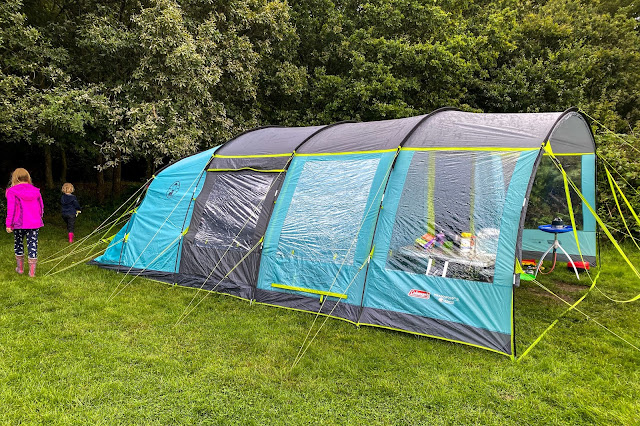 Side and front of the Coleman Meadowood 6L tent