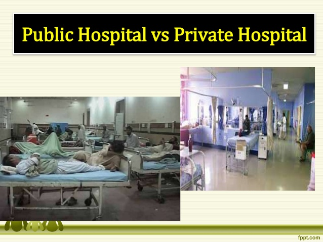 private hospital vs public hospitals What is the real difference between public and private health treatment, and do you really need private health insurance if you're a higher income earner and things are getting tight, don't rush to dump your private hospital cover, says choice spokesperson ingrid just.