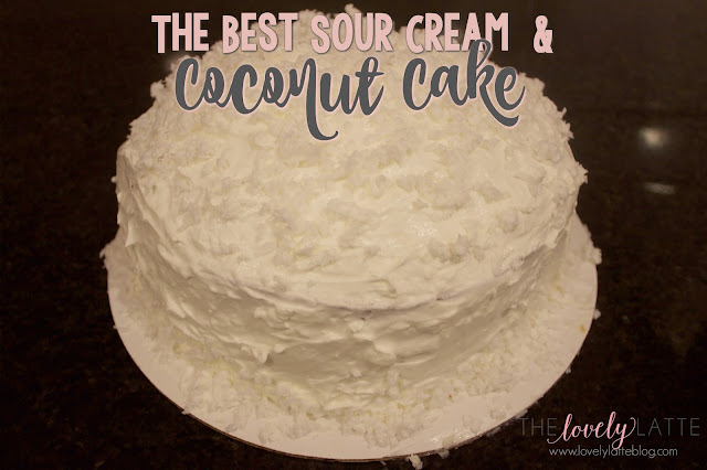 Coconut Cake With Sour Cream And Cool Whip Icing