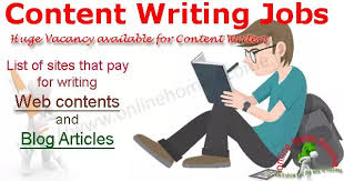 Earn money writing blog articles and work from home