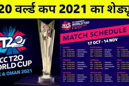 ICC T-20 World Cup Schedule 2021
