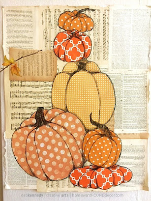 handmade, paper crafts, gift wrap crafts, dollar store crafts, repurposed, upcycled, paper arts, wall art, boho style, decorating with pumpkins, boho room makeover, fall home decor, diy home decor, diy, diy decorating, paper pumpkins, fall pumpkin decor