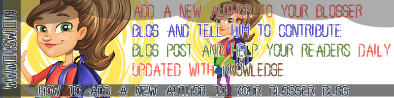 Add a New Author to Blogger Blog