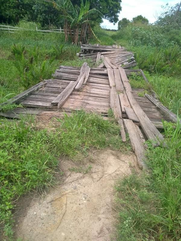 Moradores de área rural fazem apelo para reconstrução de ponte