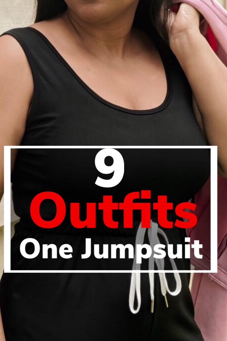 different ways to style, how to style a jumpsuit, 9 outfits with one jumpsuit, outfit ideas