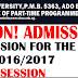 EKSU 2016/2017 Part-Time Degree Programme Admission Form On Sale