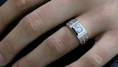 Crystal Ring for Men Engagement Rings Zirconia Wedding Open Rings Jewelry. Image from Shoope