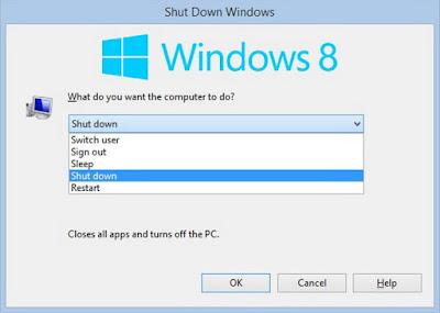 Cara Mematikan Windows 8 Dengan Menggunakan Satu Sentuhan Keyboard