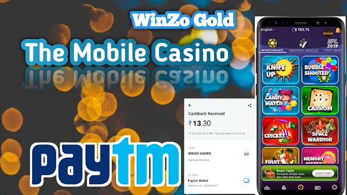 Mobile Casino | Earn Paytm Cash By Playing casino on Winzo Gold Application