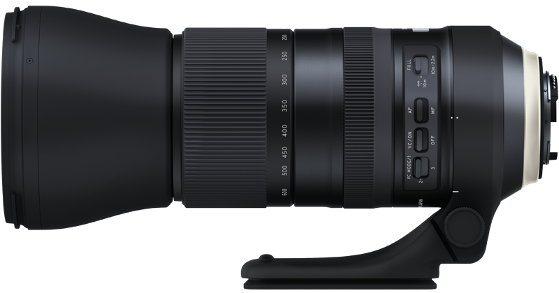 Объектива Tamron A022 SP 150-600mm f/5-6.3 Di VC USD G2, вид сбоку