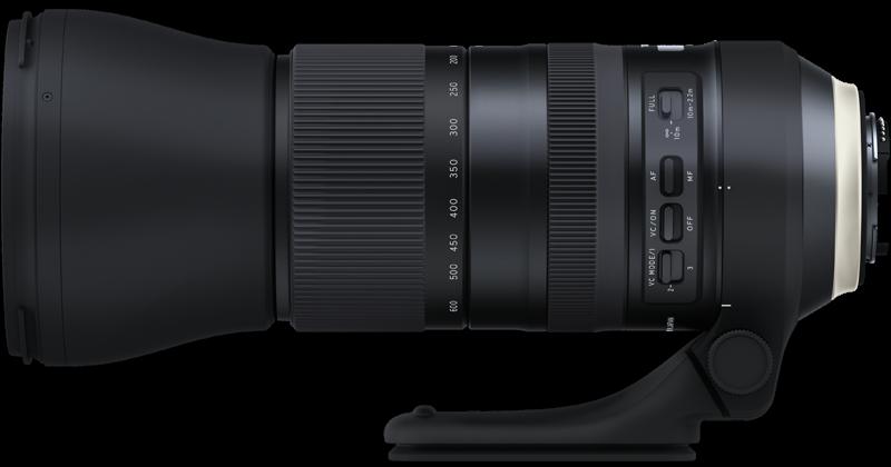 Объектива Tamron A022 SP 150-600mm f/5-6.3 Di VC USD G2, вид сбоку
