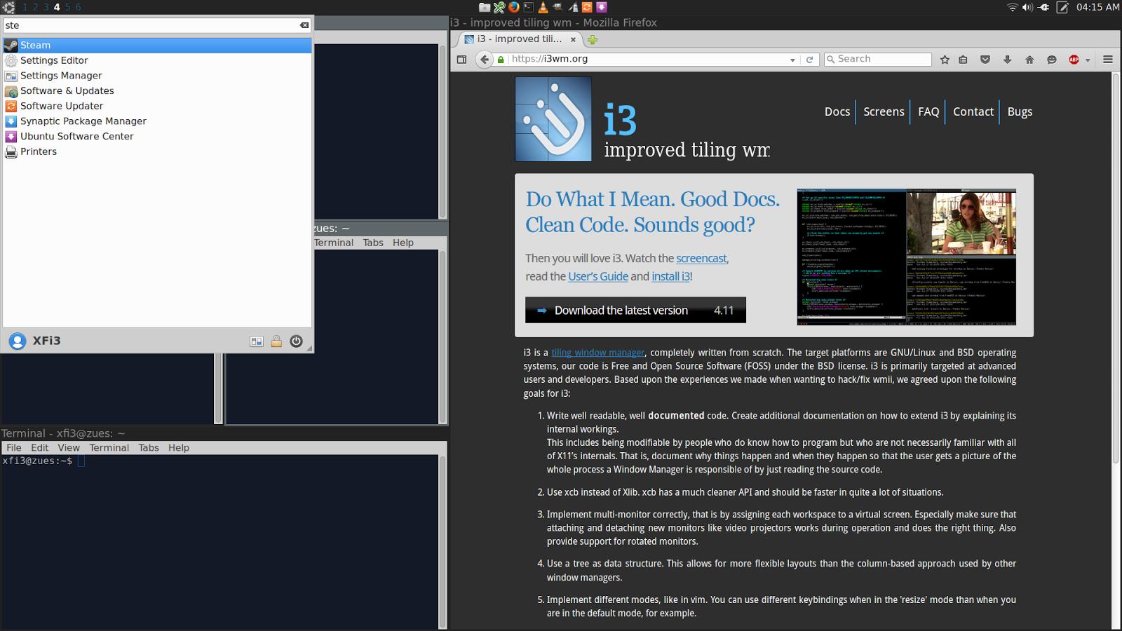Feeble Nerd: Xubuntu with i3 Tiling Windows Walkthrough
