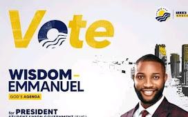 Protest As Comr.Wisdom Emmanuel Wins SUG Election   UNIUYO