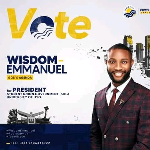 Protest As Comr.Wisdom Emmanuel Wins SUG Election  |UNIUYO