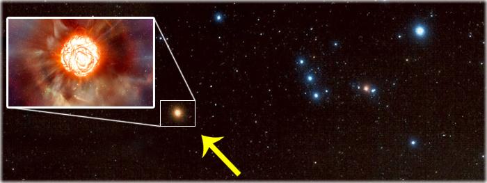 estrela betelgeuse pode explodir a qualquer momento
