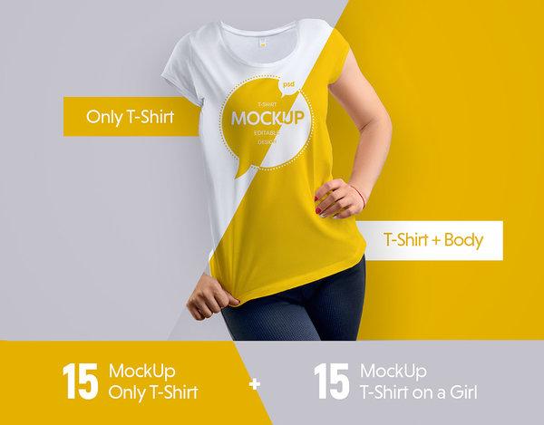 Free Girl Mock-Ups T-Shirt