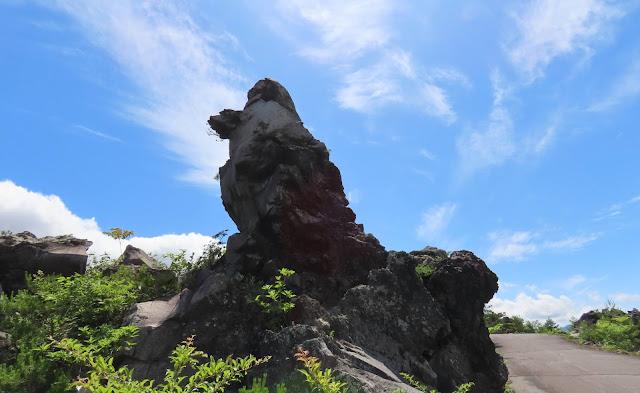 奇妙な形をした大きな溶岩
