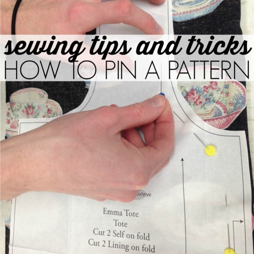 How to Pin a Pattern to Cut Fabric