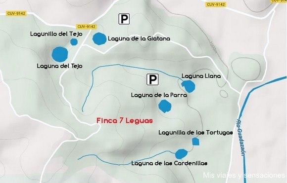 Plano lagunas de Cañada del Hoyo, Cuenca