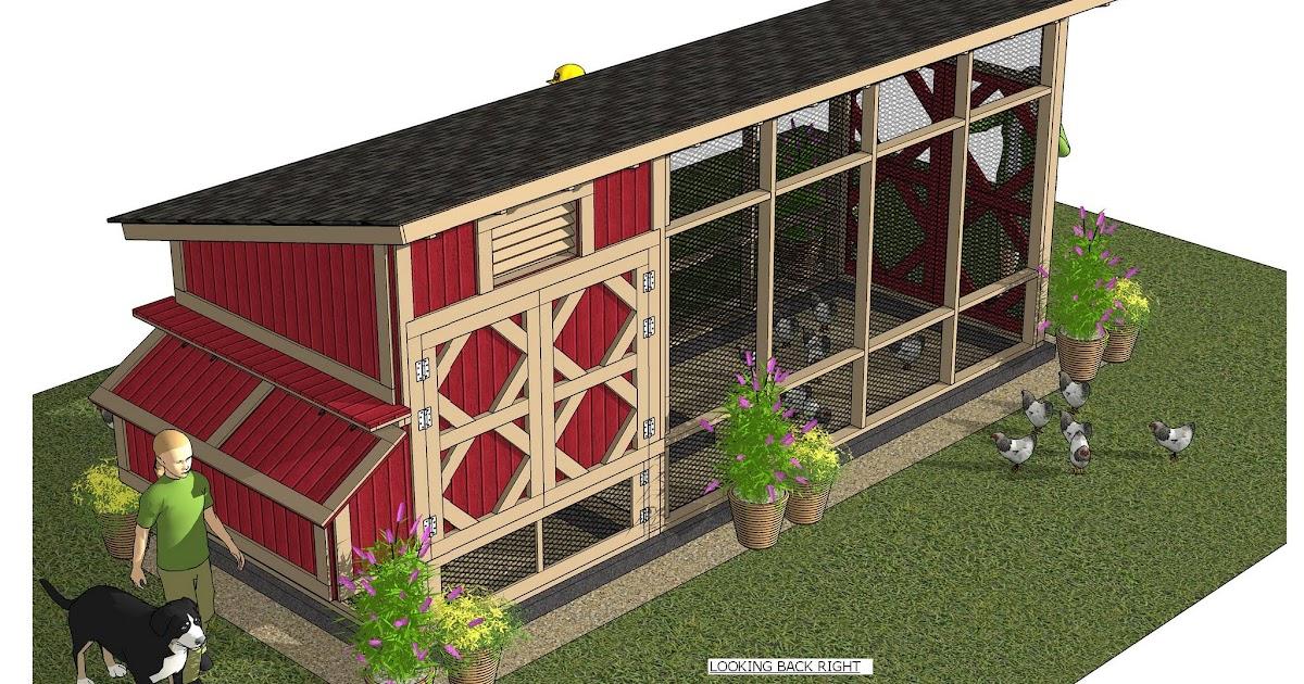 Home Garden Plans Ms101 Chicken Coop Plans Construction