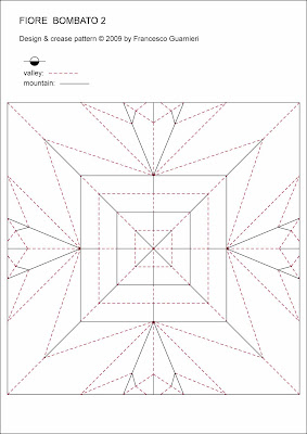 Origami CP Fiore bombato 2 - Curved flower 2 by Francesco Guarnieri