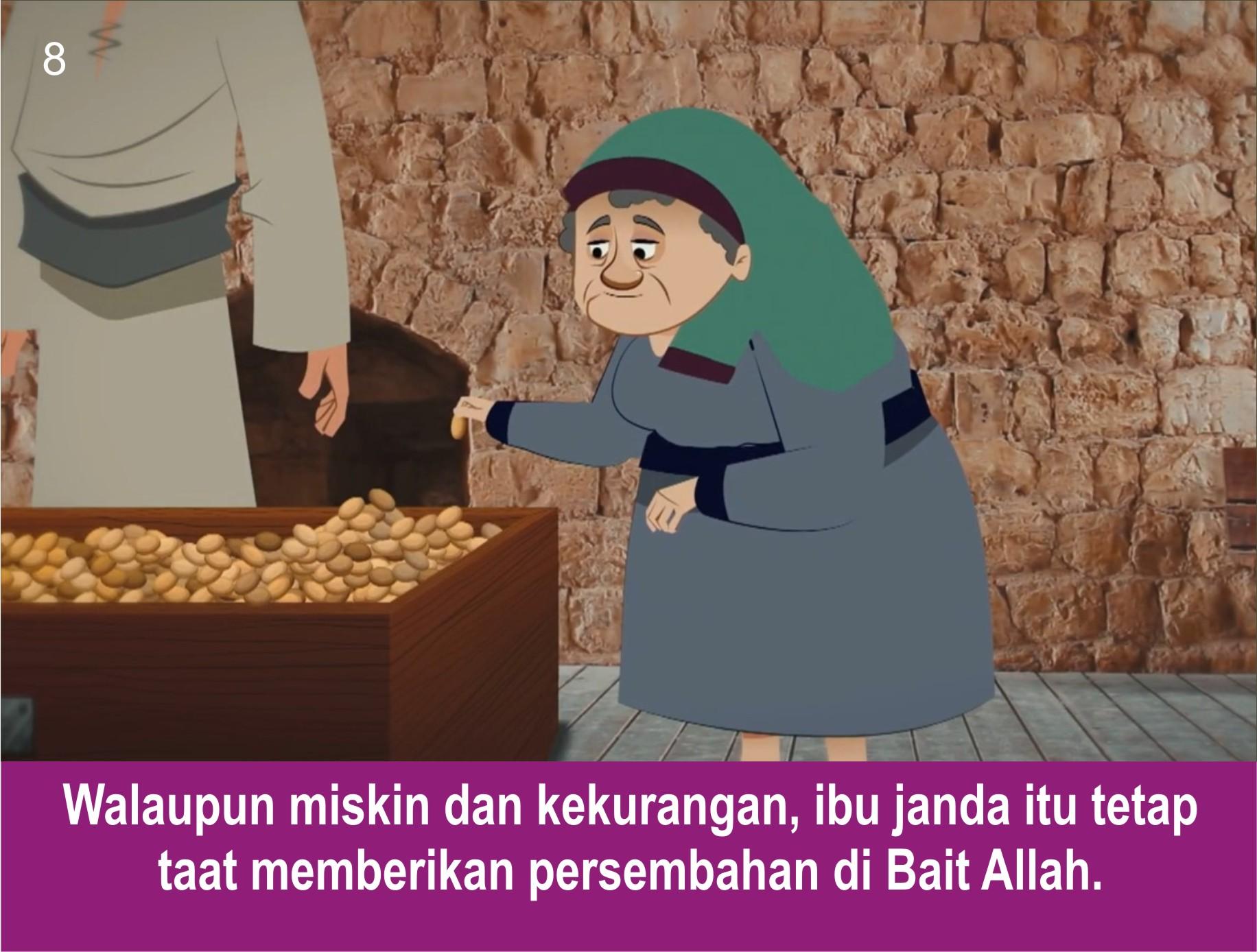 Komik Alkitab Anak Persembahan Seorang Janda Miskin